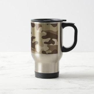 Brown-Camouflage-Entwurf Reisebecher