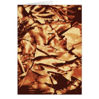 Brown-Camouflage-Tarnungs-Geschenke für Jäger Karte