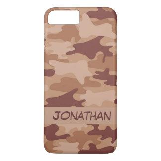 Brown-Camouflage-Tarnungs-Name personalisiert iPhone 8 Plus/7 Plus Hülle