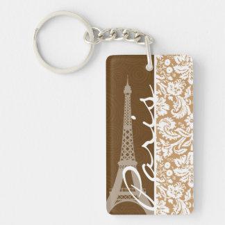 Brown-Damast; Paris Schlüsselanhängern