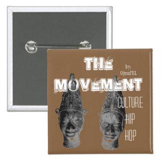 (Brown) der Bewegungs-Kultur-angesagte Hopfenknopf Quadratischer Button 5,1 Cm