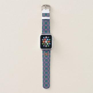 Brown-Diamant-Fraktal-Muster-Gewohnheits-Monogramm Apple Watch Armband