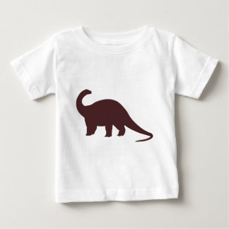Brown-Dinosaurier Baby T-shirt