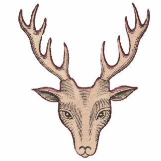 Brown-Dollar-Rotwild-Trophäe-Kopf-große Geweihe Freistehende Fotoskulptur