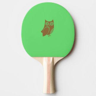 Brown-Eulen-Klingeln Pong Paddel Tischtennis Schläger