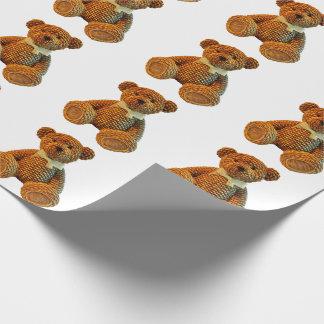 Brown-Flechtweiden-Teddybär Geschenkpapier