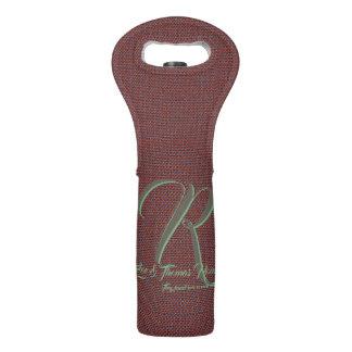 Brown-Gewebe-Familienwein tragen Tasche