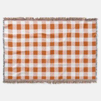 Brown-Gingham-Karo Decke