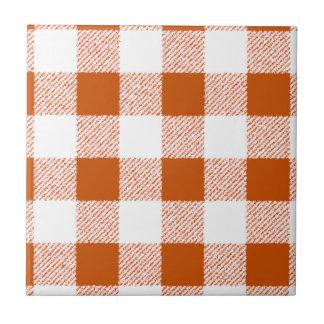 Brown-Gingham-Karo-Muster Keramikfliese