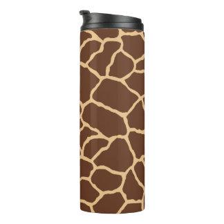 Brown-Giraffen-Haut-Muster Thermosbecher