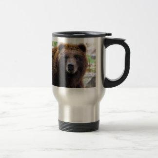 Brown-Grizzlybär Edelstahl Thermotasse