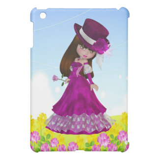 Brown-Haar-Prinzessin iPad Fall iPad Mini Hülle
