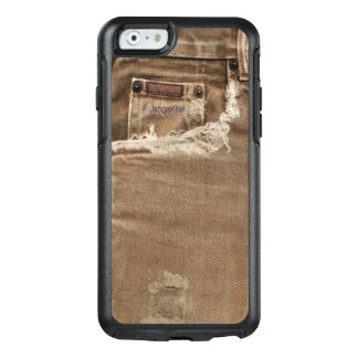 Brown heftige Denim-Jeans-Tasche OtterBox iPhone 6/6s Hülle