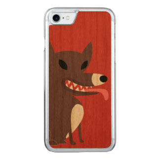 Brown Hund-rot Carved iPhone 8/7 Hülle