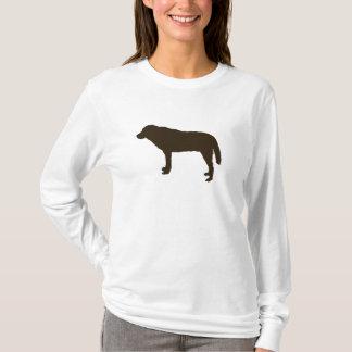 Brown-HundeHoodie T-Shirt
