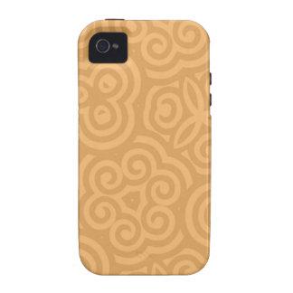 Brown-Kaleidoskop-abstraktes Muster iPhone 4/4S Hüllen
