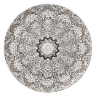 Brown-Kaleidoskop-Baumrinde Melaminteller