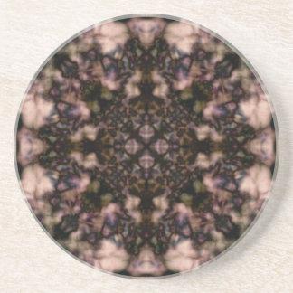 Brown-Kaleidoskopmuster Getränkeuntersetzer