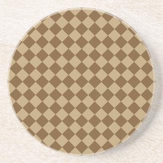 Brown-Kombinations-Diamant-Muster durch STaylor Getränkeuntersetzer