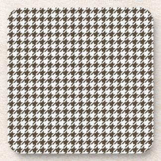 Brown-Kombinations-Hahnentrittmuster durch Shirley Untersetzer