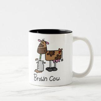 Brown-Kuh-T - Shirts und Geschenke Zweifarbige Tasse