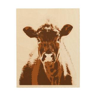 Brown-Kuh-Vieh Holzleinwand