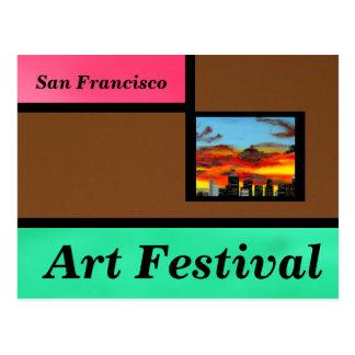 Brown-Kunst-Festival Postkarte