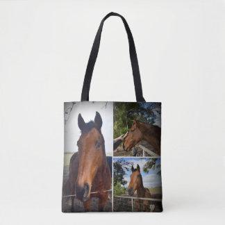 Brown-Land-PferdeFoto-Collage, Tasche