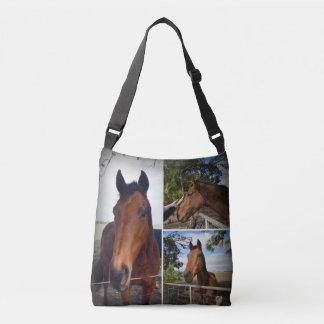 Brown-Land-PferdeFoto-Collage, Tragetaschen Mit Langen Trägern