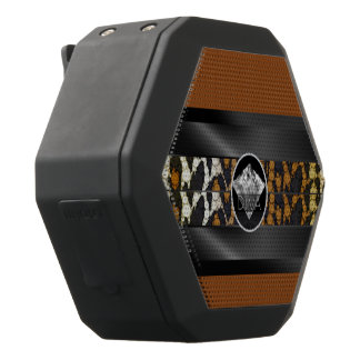 Brown-Leopard-Diamant-Diva Schwarze Bluetooth Lautsprecher