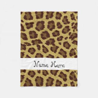 Brown-Leopard-Druck-Name-Decke Fleecedecke