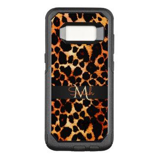 Brown-Leopard-Tierdruck-Monogramm OtterBox Commuter Samsung Galaxy S8 Hülle