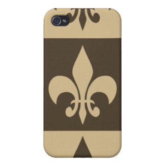 Brown-Lilie iPhone 4 Schutzhülle