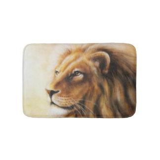 Brown-Löwe-Gesicht Badematten