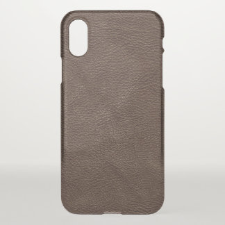 Brown maserte Leder iPhone X Hülle