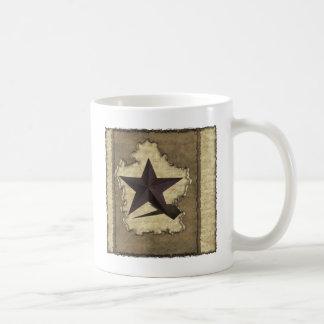 Brown-Metallstern-Western Kaffeetasse