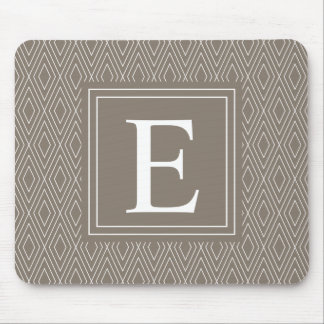 Brown-Monogramm-Diamant-Muster Mauspads