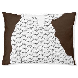 Brown-Mops-Muster Haustierbett
