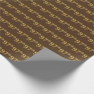 Brown, (Neunzig-7.) Ereignis des Imitat-Gold97. Geschenkpapier
