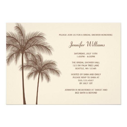 Brown-Palme-Brautparty-Einladung