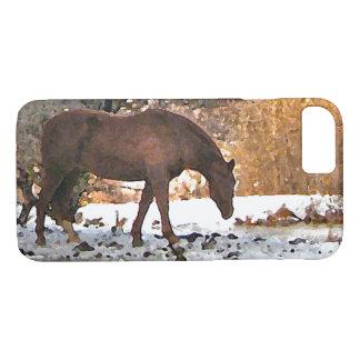 Brown-Pferd in Winter TieriPhone 7 Fall iPhone 8/7 Hülle