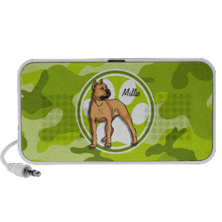 Brown-Pitbull hellgrüne Camouflage Tarnung Lautsprecher