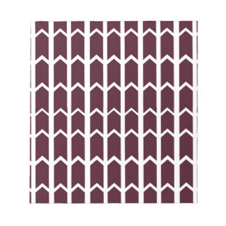 Brown-Platten-Zaun Notizblock