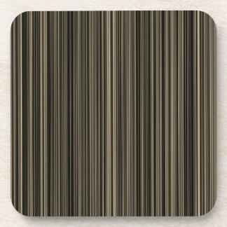 Brown retro Streifen-Set beige Taupe Untersetzer