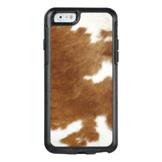 Brown-Rindleder-Druck OtterBox iPhone 6/6s Hülle