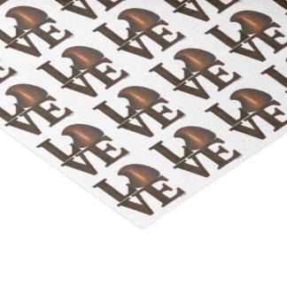 Brown-Schokoladen-Tropfen-Süßigkeit LIEBE Seidenpapier