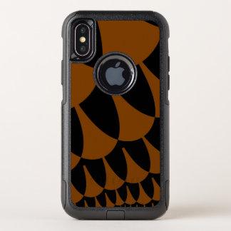 Brown-Schwarzes stuft iPhone X Kasten ein OtterBox Commuter iPhone X Hülle