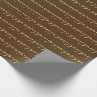 Brown, (Siebzig-7.) Ereignis des Imitat-Gold77. Geschenkpapier