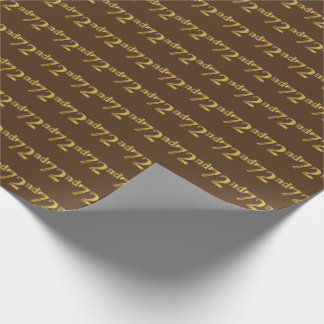 Brown, (Siebzig-Zweites) Ereignis des Geschenkpapier