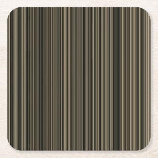 Brown Streifen-Papier-Untersetzer beige Taupe Rechteckiger Pappuntersetzer